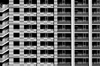 Apartment building abstract. Tokyo, Japan. Thursday May 30th 2019