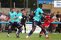 Anthony Cook of Welling takes a shot at the Charlton goal  during Welling United vs Charlton Athletic, Friendly Match Football at the Park View Road Ground on 13th July 2019