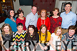 Enjoying the Ardfert NS Christmas Party at the Brogue on Friday were Marie O'Connell, Deirdre Courtney, Maggie Kearney, Gemma O'Mahony, Lisa O'Flaherty, Mary O'Connor, Billy O'Connor, Ann Kearney, Orla Fitzgerald, Joan Holland, Tomas Hanafin, Betty Stack