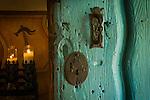 San Juan Bautista Mission, chapel door