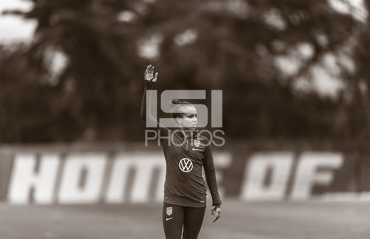 Santa Barbara, CA - March 31, 2019: The USWNT trains in preparation for an international friendly.
