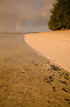 Rainbow over Ke'e Beach, Kauai, Hawaii