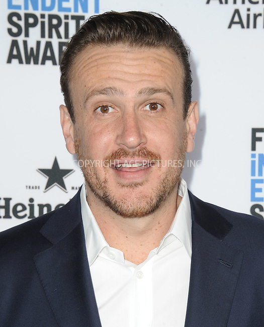 WWW.ACEPIXS.COM<br /> <br /> January 9 2016, New York City<br /> <br /> Jason Segal arriving at the 2016 Film Independent Filmmaker Grant and Spirit Award Nominees Brunch at BOA Steakhouse on January 9, 2016 in West Hollywood, California. <br /> <br /> By Line: Peter West/ACE Pictures<br /> <br /> <br /> ACE Pictures, Inc.<br /> tel: 646 769 0430<br /> Email: info@acepixs.com<br /> www.acepixs.com