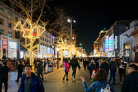 Wangfujing Pedestrian Street in Beijing, China