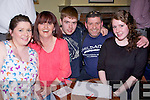 QUIZ: Supporting the Child Aid Fundraiser Everest Trek 2013 in Na Gaeil GAA Club, Kileen Tralee on Friday night, were the Moriarty Family, Tralee, L-r: Sandra,Amanda,Peadar,Tom and Mandy Moriarty.