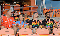 Houston, TX - Saturday Sept. 03, 2016: Fans prior to a regular season National Women's Soccer League (NWSL) match between the Houston Dash and the Orlando Pride at BBVA Compass Stadium.