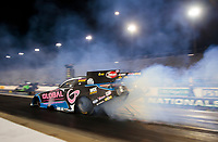 Oct 11, 2019; Concord, NC, USA; NHRA funny car driver Shawn Langdon during qualifying for the Carolina Nationals at zMax Dragway. Mandatory Credit: Mark J. Rebilas-USA TODAY Sports