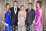 BALL: Having a ball at the St Joseph's Presentation, Castleisland Debs Ball at the Earl of Desmond hotel on Saturday l-r: Vanessa Breen, Joseph O'Callaghan, Sheila Griffin, Jack Roche and Aoife Horgan.