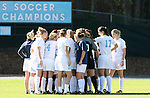 North Carolina's starter huddle before the game on Saturday, November 25th, 2006 at Fetzer Field in Chapel Hill, North Carolina. The University of North Carolina Tarheels defeated the Texas A&M Aggies 3-2 in an NCAA Division I Women's Soccer Championship quarterfinal game.