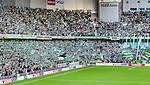 Stockholm 2014-08-24 Fotboll Superettan Hammarby IF - Ljungskile SK :  <br /> Vy &ouml;ver Tele2 Arena under matchen mot nordv&auml;stra kurvan med Hammarbys supportrar<br /> (Foto: Kenta J&ouml;nsson) Nyckelord:  Superettan Tele2 Arena Hammarby HIF Bajen Ljungskile LSK supporter fans publik supporters inomhus interi&ouml;r interior