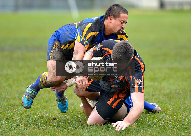 Rugby League, Wanderers Wolves v Tahunanui Tigers, Brightwater, New Zealand, 15th June 2013,  Photo: Barry Whitnall/shuttersport.co.nz