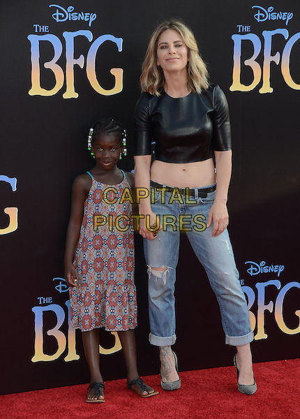 21 June 2016 - Hollywood. Lukensia Michaels, Jillian Michaels. Arrivals for the Premiere Of Disney's &quot;The BFG&quot; held at El Capitan Theater. <br /> CAP/ADM/BT<br /> &copy;BT/ADM/Capital Pictures
