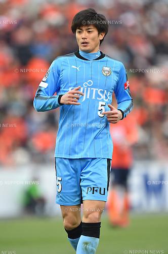 Shogo Taniguchi (Frontale),<br /> FEBRUARY 25, 2017 - Football / Soccer :<br /> 2017 J1 League match between Omiya Ardija 0-2 Kawasaki Frontale at NACK5 Stadium Omiya in Saitama, Japan. (Photo by AFLO)