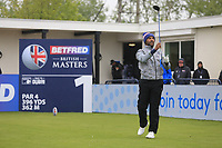 Abdullah Al Naboodah during the Hero Pro-am at the Betfred British Masters, Hillside Golf Club, Lancashire, England. 08/05/2019.<br /> Picture Fran Caffrey / Golffile.ie<br /> <br /> All photo usage must carry mandatory copyright credit (© Golffile | Fran Caffrey)