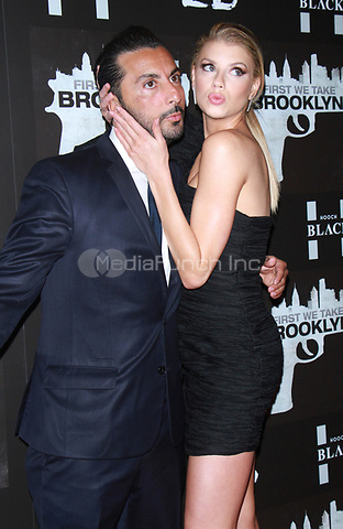 NEW YORK, NY February 07, 2018:Danny A. Abeckaser, Charlotte McKinney attend the New York premere of First We Take Brooklyn hosted by 28 Flims and Danny A. Abeckaser at Regal Battery Park in New York. February 07, 2018. Credit:RW/MediaPunch