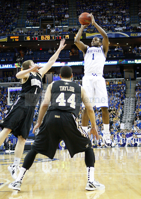 UK guard Darius Miller shoots the ball during the first half in the 2012 SEC Tournament championship game between Kentucky and Vanderbilt, played at New Orleans Arena, on 3/11/12.  Photo by Quianna Lige | Staff
