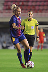 UEFA Women's Champions League 2017/2018.<br /> Round of 16.<br /> FC Barcelona vs Gintra Universitetas: 3-0.<br /> Toni Duggan.