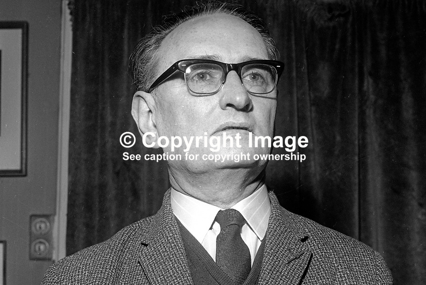 Mr JJ Campbell, lecturer, St Joseph's Teacher Training College, Belfast, N Ireland, March 1969, 196903000121<br />