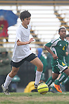 Palos Verdes, CA 02/07/12 - Wesley Crawford (Peninsula #15) in action during the Mira Costa vs Peninsula Boys Varsity soccer bay league game.