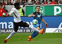 Nico Schulz (TSG 1899 Hoffenheim) gegen Danny da Costa (Eintracht Frankfurt) - 08.04.2018: Eintracht Frankfurt vs. TSG 1899 Hoffenheim, Commerzbank Arena