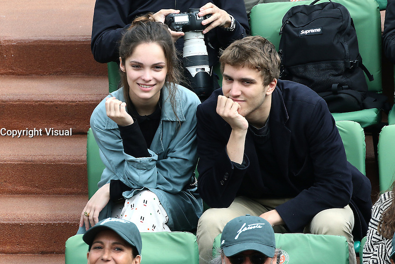 Lola Le Lann watching tennis at Roland Garros tennis open 2016. Paris - may 23. 2016.