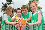 Enjoying the Team Kerry Basketball Camp in Tralee last week. .L-R Felix Walker, Mikey McCarhty, Jack Tobin, Ava O'Connell Buckley.