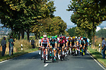 The peloton with Lotto-Soudal and Bora-Hansgrohe on the front during Stage 1 of the Deutschland Tour 2019, running 167km from Hannover to Halberstadt, Germany. 29th August 2019.<br /> Picture: ASO/Marcel Hilger | Cyclefile<br /> All photos usage must carry mandatory copyright credit (© Cyclefile | ASO/Marcel Hilger)