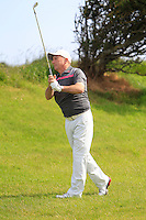 John Garvey (Seapoint) on the 8th during Round 1 of the Irish Amateur Close Championship at Seapoint Golf Club on Saturday 7th June 2014.<br /> Picture:  Thos Caffrey / www.golffile.ie