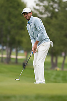 Jack Singh Brar (ENG) in action on the 1st hole during final round at the Omega European Masters, Golf Club Crans-sur-Sierre, Crans-Montana, Valais, Switzerland. 01/09/19.<br /> Picture Stefano DiMaria / Golffile.ie<br /> <br /> All photo usage must carry mandatory copyright credit (© Golffile | Stefano DiMaria)