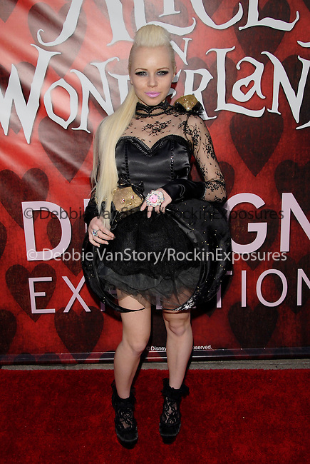 Kerli Koiv at the The celebration of the Blu-ray(TM) & DVD release of Alice in Wonderland on June 1, Walt Disney Studios Home Entertainment (WDSHE), in partnership with Disney Consumer Products (DCP), is unveiling a first-of-its-kind Alice In Wonderland Exhibition in the FIDM Museum & Galleries at FIDM/Fashion Institute of Design & Merchandising in downtown in Los Angeles, California on May 26,2010                                                                   Copyright 2010  DVS / RockinExposures