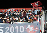 21 November 2010: Colorado Rapid fans show their support during the 2010 MLS CUP between the Colorado Rapids and FC Dallas at BMO Field in Toronto, Ontario Canada..The Colorado Rapids won 2-1 in extra time....