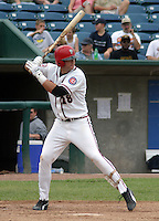 August 31, 2003:  Brian Dopriak of the Lansing Lugnuts, Class-A affiliate of the Chicago Cubs, during a Midwest League game at Oldsmobile Park in Lansing, MI.  Photo by:  Mike Janes/Four Seam Images
