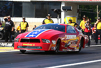 May 31, 2013; Englishtown, NJ, USA: NHRA pro mod driver Steve Matusek during qualifying for the Summer Nationals at Raceway Park. Mandatory Credit: Mark J. Rebilas-