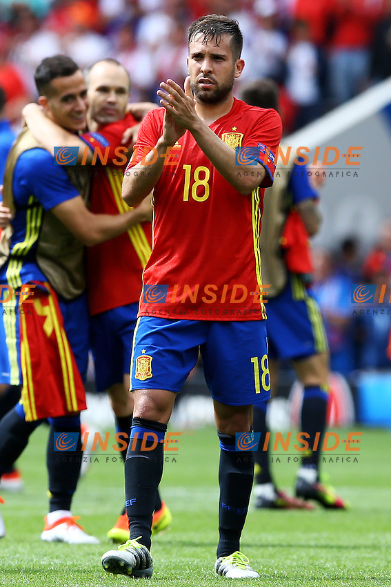Jordi Alba Spain <br /> Toulouse 13-06-2016 Stade de Toulouse Footballl Euro2016 Spain - Czech Republic  / Spagna - Repubblica Ceca Group Stage Group D. Foto Matteo Ciambelli / Insidefoto