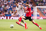 Real Madrid's player Gareth Bale and Stade de Reims's player Berthier during the XXXVII Santiago Bernabeu Trophy in Madrid. August 16, Spain. 2016. (ALTERPHOTOS/BorjaB.Hojas)