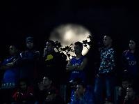 MEDELLIN - COLOMBIA: 15 - 03 - 2017: Despues de la tormenta vino la calma, luna llena, durante partido de la fase de grupos, grupo 3, fecha 1 entre Deportivo Independiente Medellin de Colombia y River Plate de Argentina por la Copa Conmebol Libertadores Bridgestone 2017 en el Estadio Atanasio Girardot, de la ciudad de Medellin. / After the storm came the calm, full moon, during a match for the group stage, group 3 of the date 1, between Deportivo Independiente Medellin of Colombia and River Plate of Argentina for the Conmebol Libertadores Bridgestone Cup 2017, at the Atanasio Girardot, Stadium, in Medellin city. Photos: VizzorImage / Luis Ramirez / Staff.