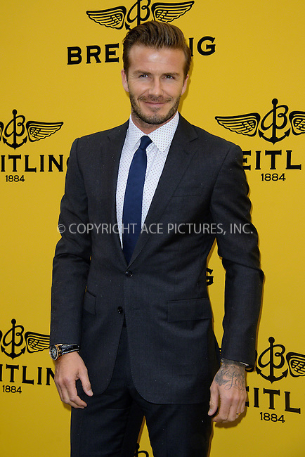 WWW.ACEPIXS.COM<br /> <br /> US Sales Only<br /> <br /> June 27 2013, London<br /> <br /> David Beckham at the Breitling flagship London store launch  on June 27 2103 in London<br /> <br /> By Line: Famous/ACE Pictures<br /> <br /> <br /> ACE Pictures, Inc.<br /> tel: 646 769 0430<br /> Email: info@acepixs.com<br /> www.acepixs.com
