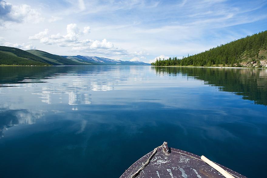 Reflections Lake Khovsgol Mongolia