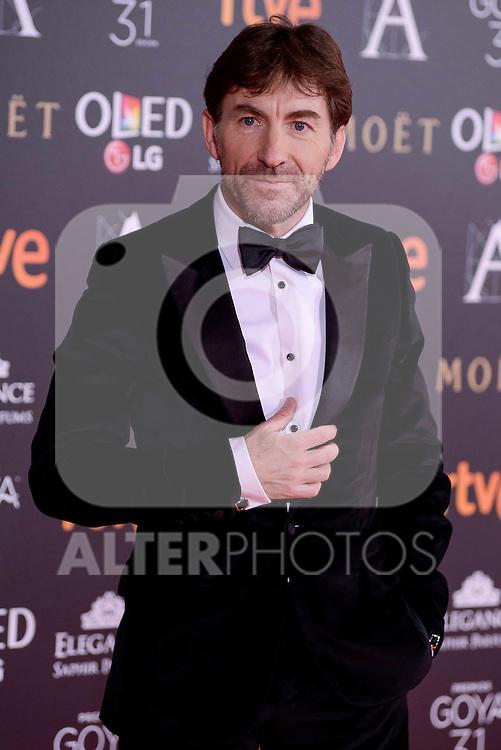 Antonio de la Torre attends to the Red Carpet of the Goya Awards 2017 at Madrid Marriott Auditorium Hotel in Madrid, Spain. February 04, 2017. (ALTERPHOTOS/BorjaB.Hojas)
