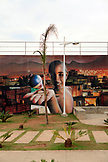 BRAZIL, Rio de Janiero, Favela, street art located on a wall within Complexo do Alemao, a neighborhood within the North Zone