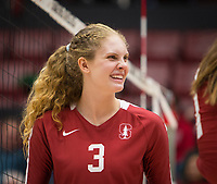 Stanford, CA - October 18, 2019: Holly Campbell at Maples Pavilion. The No. 2 Stanford Cardinal swept the Colorado Buffaloes 3-0.