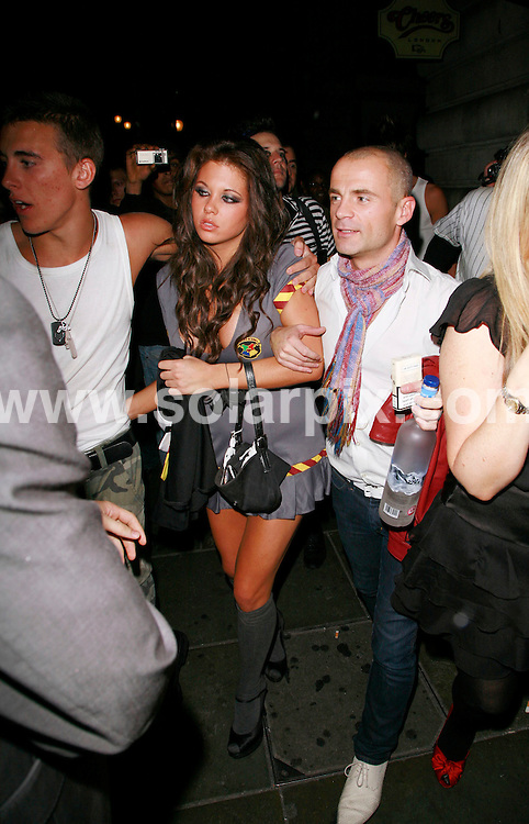 **ALL ROUND PICTURES FROM SOLARPIX.COM**.*WORLDWIDE RIGHTS*.Guests depart from Bianca Gascoigne's fancy dress Halloween Birthday party at China White's nightclub, London, 31st October 2007. ..This pic: Bianca Gascoigne..JOB REF: 5238 GMT   DATE: 31_10_2007.**MUST CREDIT SOLARPIX.COM OR DOUBLE FEE WILL BE CHARGED* *UNDER NO CIRCUMSTANCES IS THIS IMAGE TO BE REPRODUCED FOR ANY ONLINE EDITION WITHOUT PRIOR PERMISSION*
