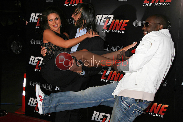 Daniel Sadek with Nadia Bjorlin and Wyclef Jean<br />