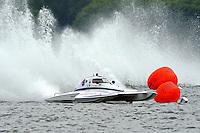 "Mark Johnson, S-9 ""Rewinder"",  2.5 Litre Stock class hydroplane.Syracuse Hydrofest, Onondaga Lake, Syracuse, NY.20/21 June, 2009, Dayton, OH USA..©F. Peirce Williams 2009 USA.F.Peirce Williams.photography.ref: RAW (.NEF) File Available"