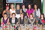CHRISTMAS BELLS: The staff of the Camp community childcare having great fun at the their Christmas party at the Kingdom Greyhound Stadium on Friday seated l-r: Sheila Griffin, Bridie O'Connor, Maureen Kennedy, Marie McCarthy and Carol McCormack. Back l-r: Catherine Fitzmaurice, Samantha Qurike, Gillian Greensmith, Annette Flaherty, Niamh Brosnan and Norma Flynn.
