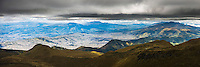 South of Quito panoramic view, seen from Pichincha Volcano, Quito, Ecuador, South America
