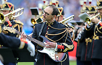 A Band perform pre match during the International Friendly match between France and England at Stade de France, Paris, France on 13 June 2017. Photo by David Horn/PRiME Media Images.