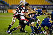 Samisoni Fisilau tries to disrupt the Otago scrum ball. Air New Zealand Cup rugby game played at Mt Smart Stadium, Auckland, between Counties Manukau Steelers & Otago on Thursday August 21st 2008..Otago won 22 - 8 after leading 12 - 8 at halftime.