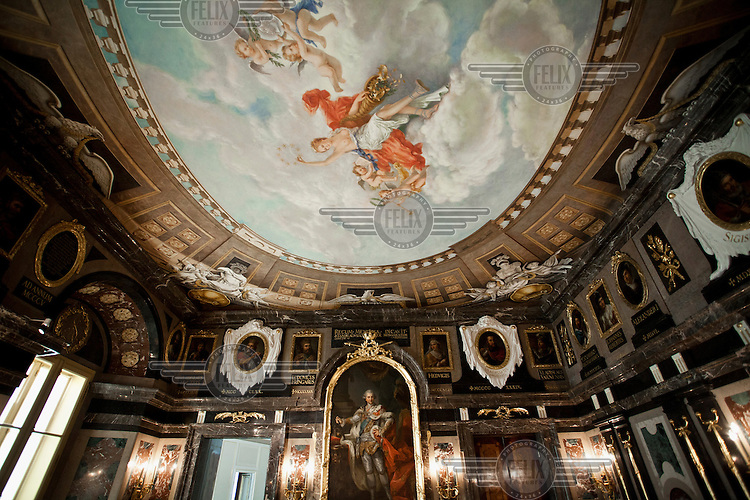 The Marble Room in the Royal Castle. The castle is a reconstruction of the original (built in the 16th and 17th Centuries) that was destroyed in World War II...