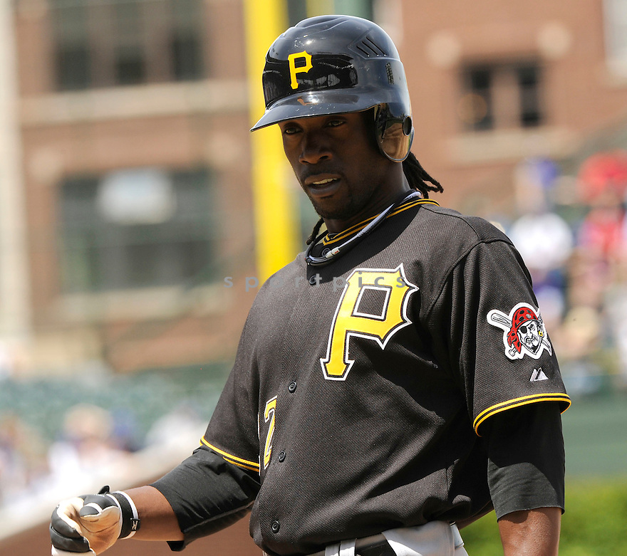 ANDREW MCCUTCHEN, of the Pittsburgh Pirates  in action during the Pirates game against the Chicago Cubs at Wrigley Field in Chicago, IL  on May 14, 2010...The Pittsburgh Pirates  win 10-6.